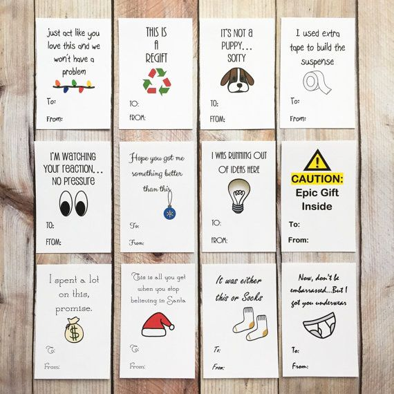 Funny Christmas Sticker Gift Tags Holiday by ArtfulCreationsByDeb