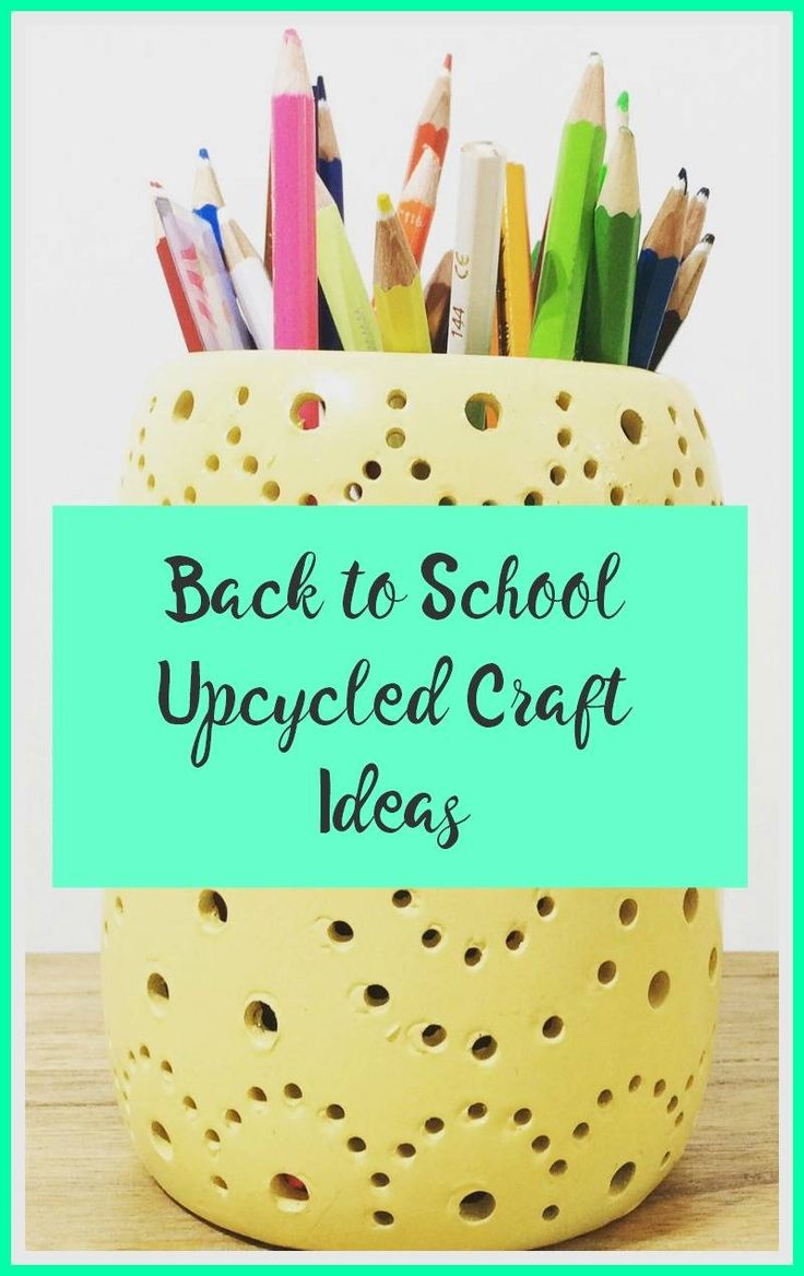 Back to School Upcycled Craft Ideas are a lovely way to help a child feel positive about going back to school They are also  really fun and thrifty crafts to make. Upcycling with paint is always fun and there are some great upcyle ideas here