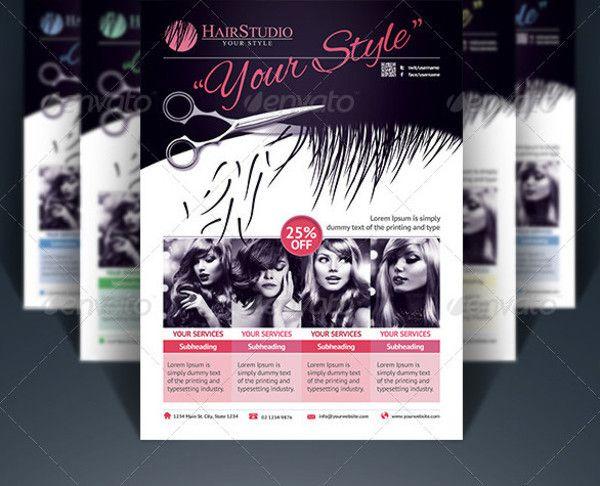 69 best 66 Beauty Salon Flyer Templates images – Hair Salon Flyer Template