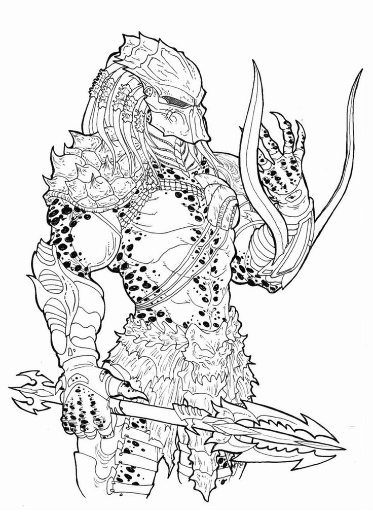 1000 images about predator cool on pinterest xenomorph for Xenomorph coloring pages