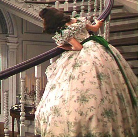 Walter Plunkett - Costumes - Robe Fleurie et Chapeau Ruban Vert - Vivien Leigh - Autant en emporte le Vent - 1939