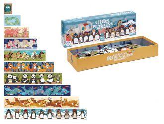 puzzel '10 little penguins' 10 puzzels - Londji