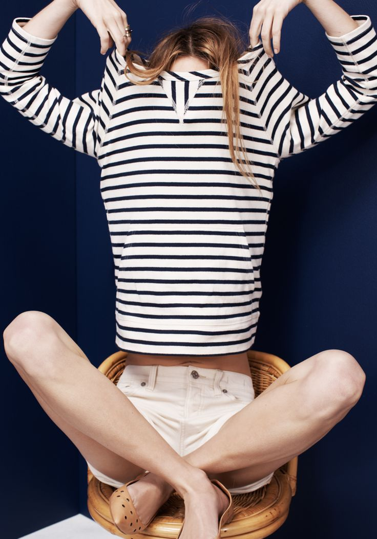 Madewell Pocket-Front tee worn with Barbour® Dales cape + denim boyshorts.