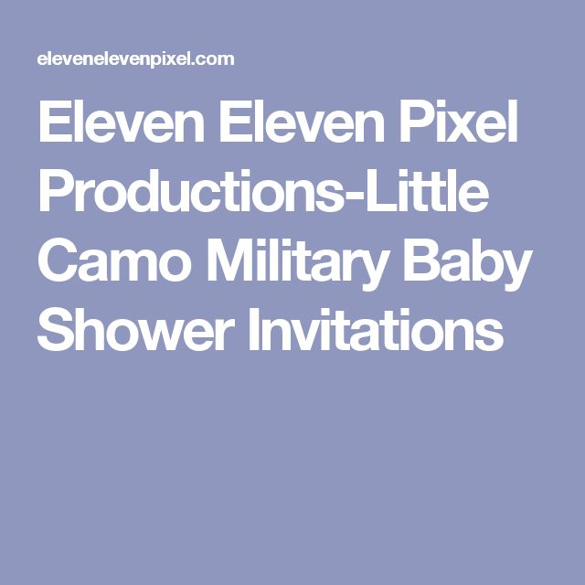 Eleven Eleven Pixel Productions-Little Camo Military Baby Shower Invitations