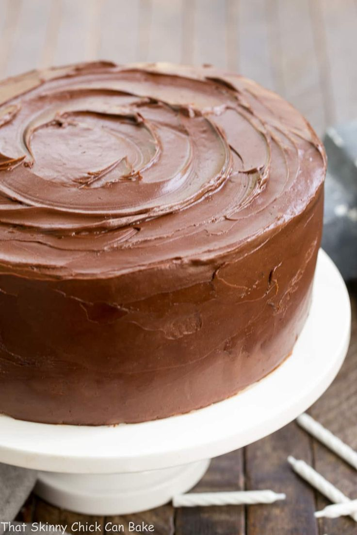 Classic Yellow Butter Cake with Chocolate Icing   Perfect cake for any celebration!