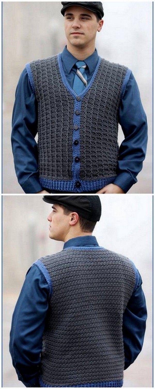 Attractive Crochet Men S Sleep Less Sweater In 2020 Men Sweaters Pattern Crochet Men Sweater Crochet Pattern
