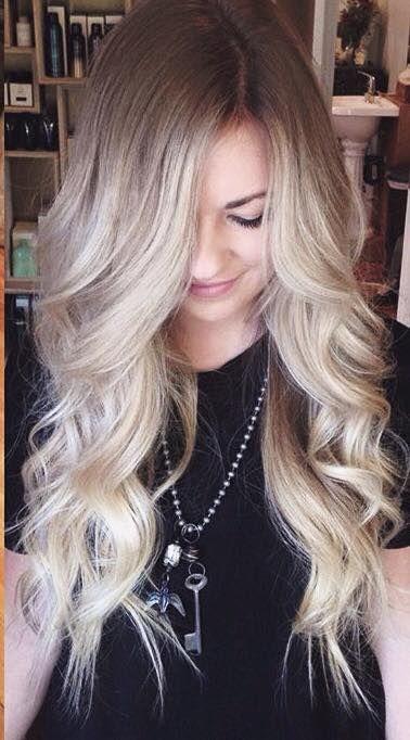 Blonde Balayage. Root-tint back.