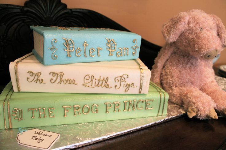 "I had this made for my sister's second baby shower. The theme was ""Once Upon a Time."" I used fairy tale books as inspiration as well as decoration."
