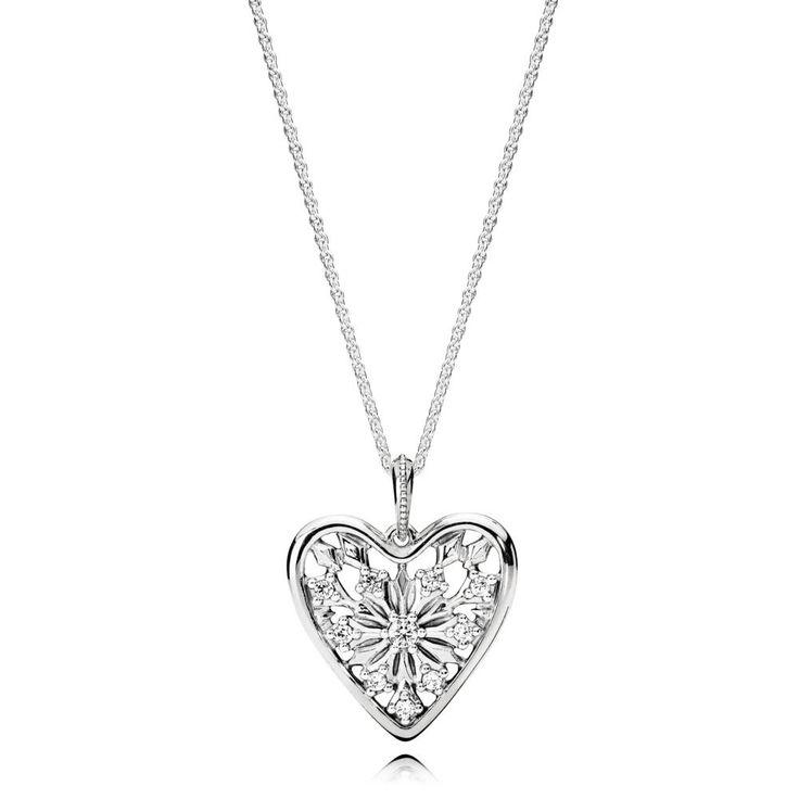 Hearts of Winter Necklace   PANDORA eSTORE