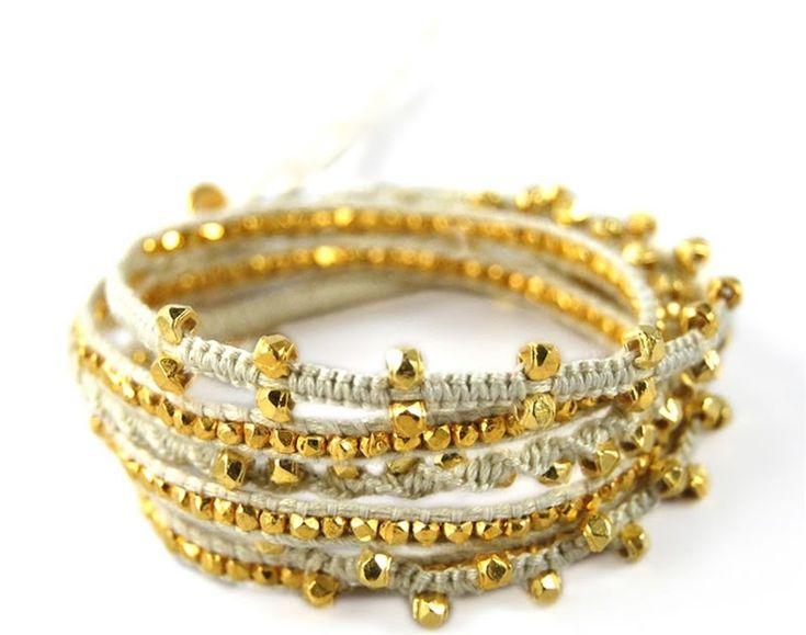 I live for Chan Luu bracelets. At any given time I have one on me, around my neck, wrapped endlessly around my wrist, on my bag. Love them...