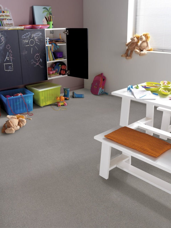 Novilon Structura 1933 Melange  Marmoleum from Livingreen  Fun play room. easy care too!