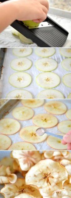 appel met kaneel en suiker.