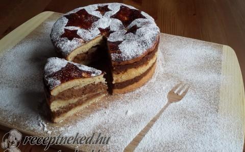 Bejglitorta sütőtökkel és dióval recept fotóval