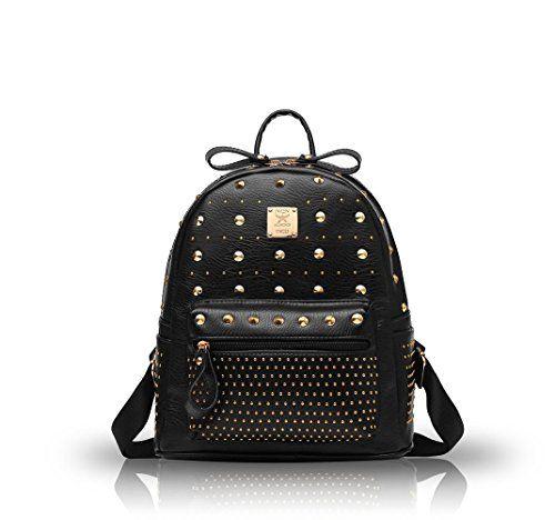 Nicole&Doris 2016 nouvel afflux de femmes sac en cuir PU Mini sac š€ dos sac š€ dos(Black)