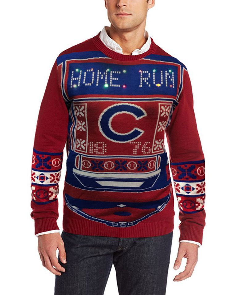 Chicago Cubs Light-Up Ugly Sweater  #ChicagoCubs #Cubs #FlyTheW SportsWorldChicago.com
