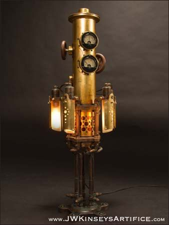 Mystarium Table Lamp: A Hand Made Steampunk Styled Light
