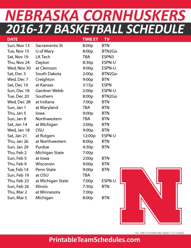 14 best images about BIG 10 Basketball Schedule 2016-2017 ...