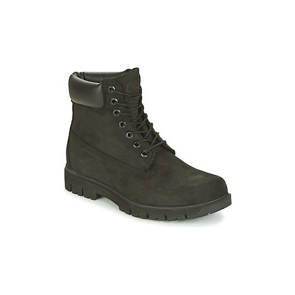 """Timberland RADFORD 6"""""""" BOOT WP Mid Boots ($220) ❤ liked on Polyvore featuring men's fashion, men's shoes, men's boots, black, mens black boots, timberland mens shoes, timberland mens boots and mens black shoes"""