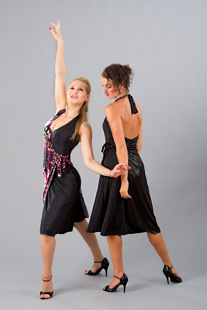 Argentine Tango Halter Wrap Dress Morning by TheGiftofDance