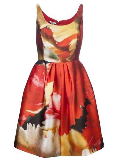 Oscar De La Renta Sleeveless Scuba Dress