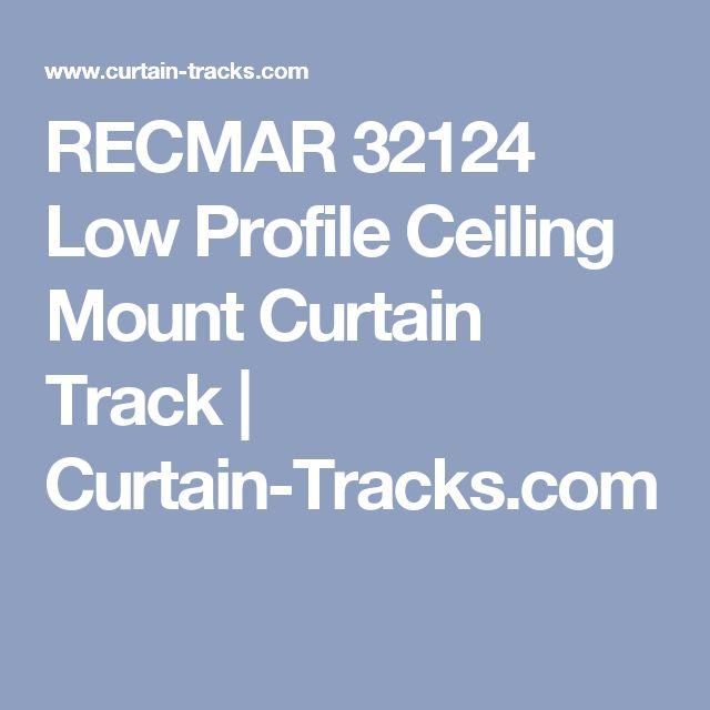RECMAR 32124 Low Profile Ceiling Mount Curtain Track     Curtain-Tracks.com