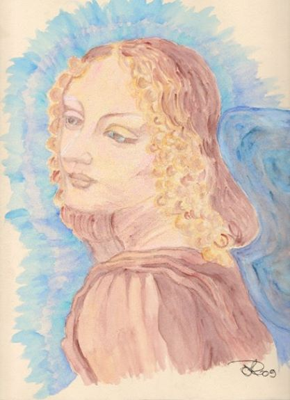 Angel, water color on paper
