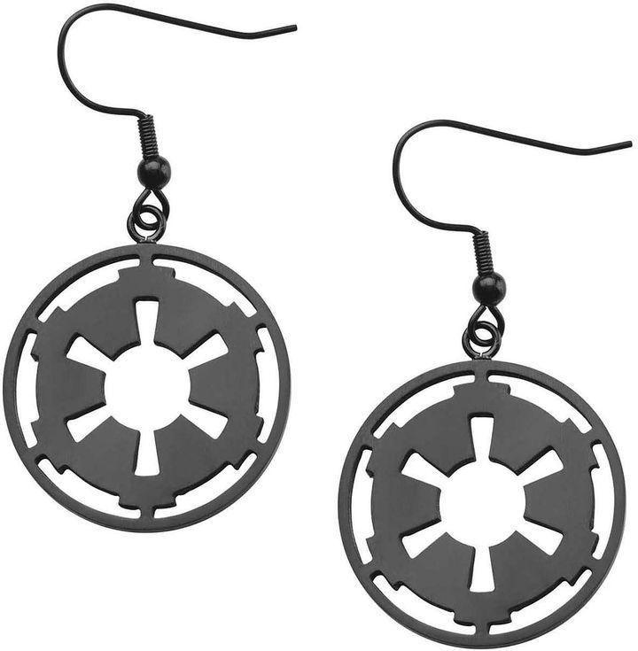FINE JEWELRY Star Wars Stainless Steel Galactic Empire Symbol Earrings
