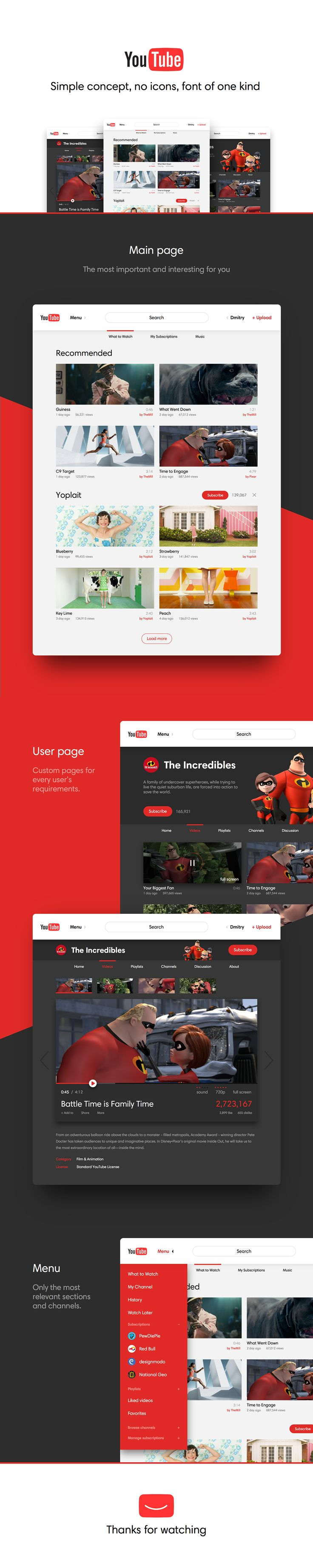 YouTube Simple concept on Web Design Served