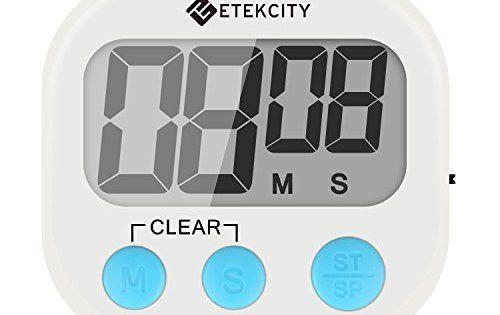 Etekcity Minuteur Numérique de Cuisine, Grand Ecran LCD, Support Magnétique, Comptage décroissant et croissant,Support Rabattable,Crochet.1…