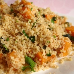 Couscous with dried apricots and roasted butternut squash. A lavish ...