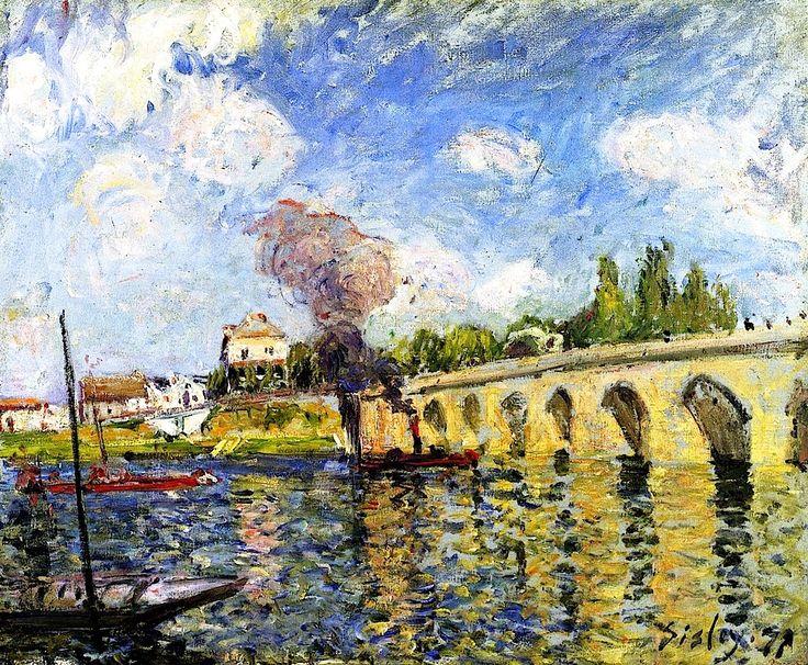 The Sevres Bridge Alfred Sisley - 1877