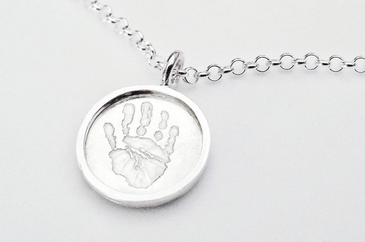 Handprint Shadowbox Necklace by RebeccaGeoffrey on Etsy