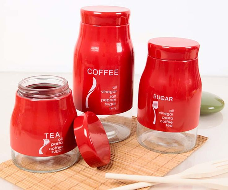 11 kitchen decors with using red accessories - Red Kitchen Accessories Ideas