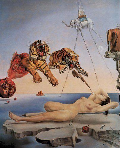 R^ve causé par le vol d'une abeille, Salvador Dali                                                                                                                                                     Plus