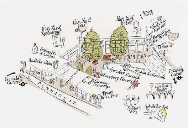 Modern British style: The Ham Yard Hotel -London