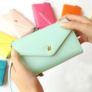 11$ For Multi Fonctions Cutte PU Wallet For Women Light Green