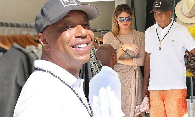Russell Simmons takes much younger girlfriend shopping in St Barts ...