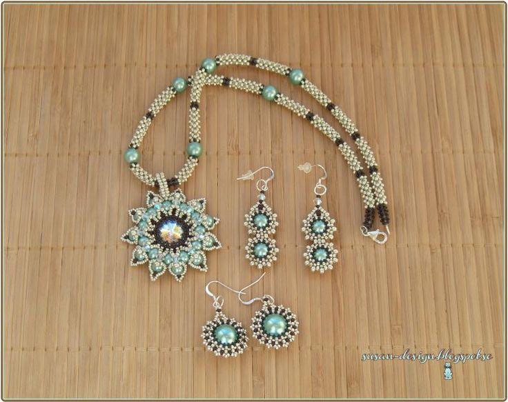 Mina smycken: Granada i ljus turkos/aqua