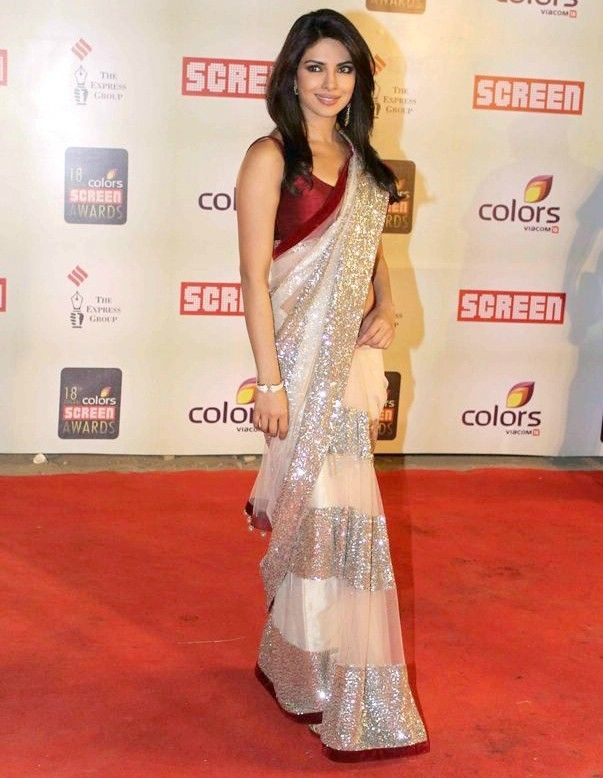 Rs.1994/- ,Bollywood Saree by Istyldeal - Priyanka Chopra Screen Award Saree,Buy From Here: http://www.artncraftemporio.com/bollywood-saree-by-istyldeal-priyanka-chopra-screen-award-saree ,COD & Free Shipping Available*