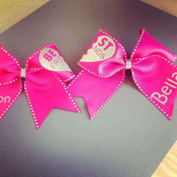 Best Friend Cheer Bows with Bling by cheerbowdiva on Etsy, $22.00