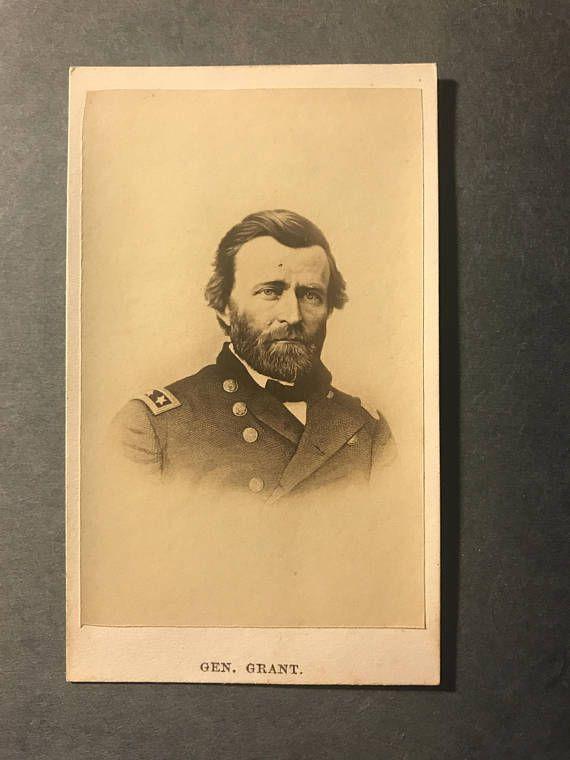 General President Ulysses S Grant Carte De Visite CDV