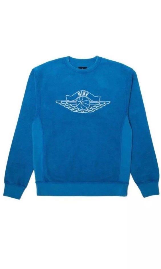 41121519fc6e UNION X JORDAN FLIGHT CREWNECK SWEATSHIRT BLUE XL UNOPENED IN BAG.  fashion   clothing  shoes  accessories  mensclothing  activewear (ebay link)