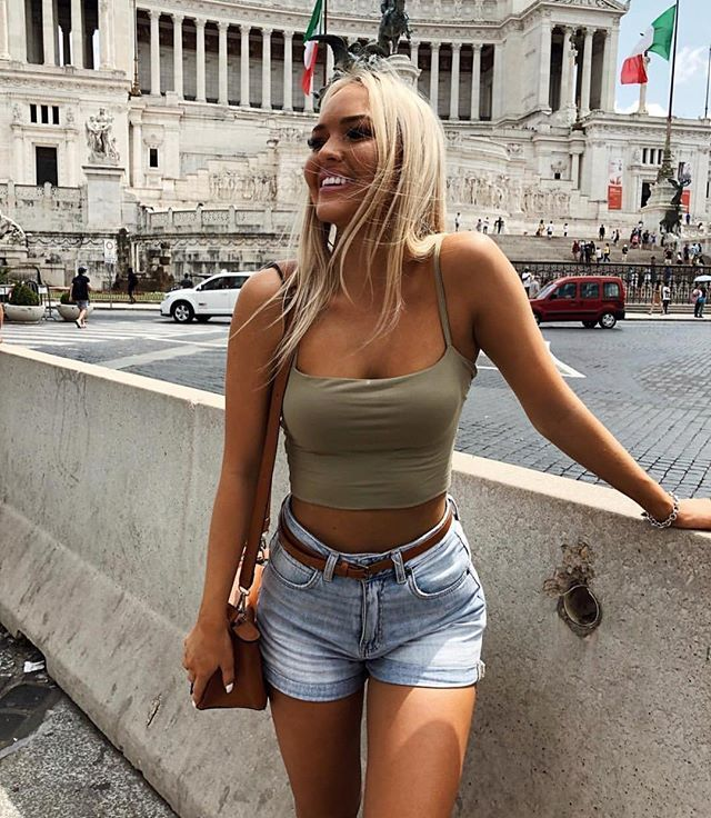 f513a35bc69 Tahlia Skaines in the Kookai Cruise Crop Top | Snapped in Kookai in ...