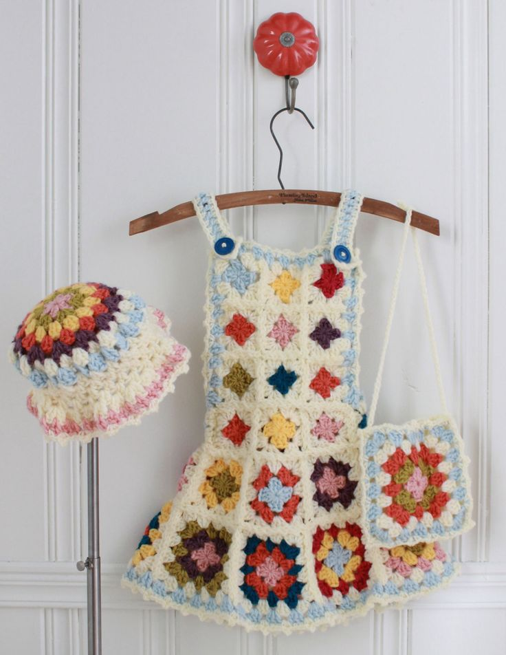 Granny Square Jumper Crochet PatternPB059 by Maggiescrochet, fun for a little girl!