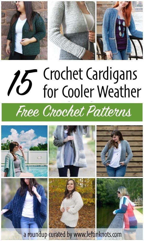 15 Free Crochet Cardigan Patterns For Cooler Weather Crochet
