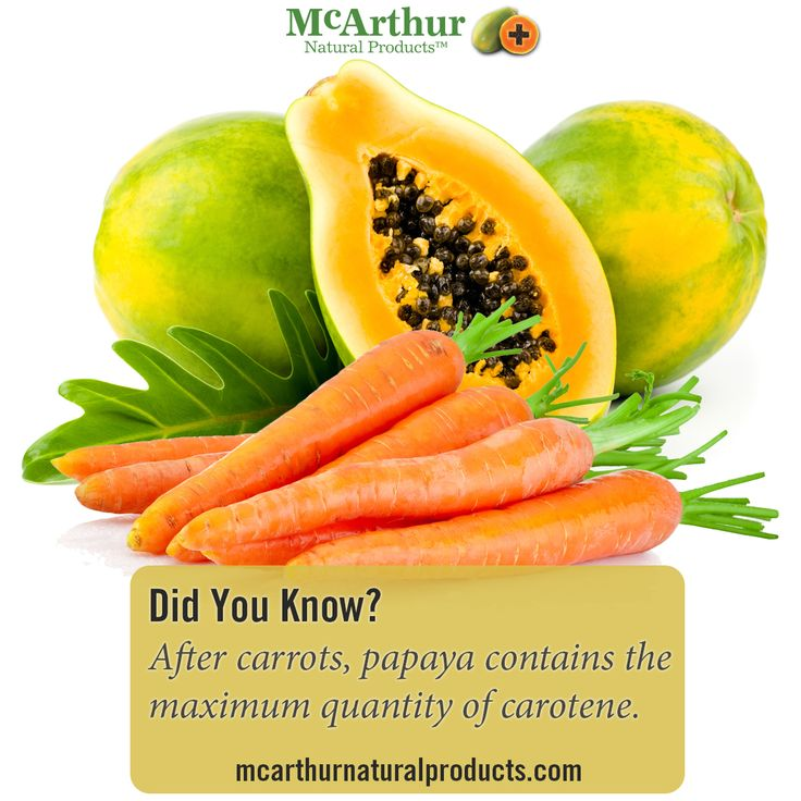 Did you know?  After carrots, papaya (pawpaw) contains the maximum quantity of carotene. This red-orange pigment is wonderful antioxidant as well as a safer source of Vitamin A.   Read more about the amazing Pawpaw here: http://mcarthurskincare.com/about-pawpaw/  #mnp #mcarthurnaturalproducts #pawpaw #papaya #papain #papaw