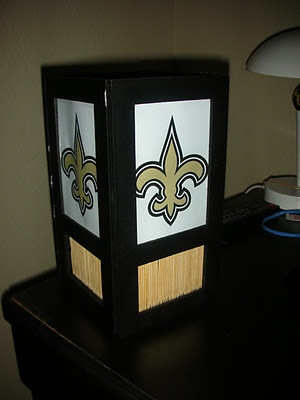 New Orleans Saints light made from 4 Dollar Tree picture frames!!