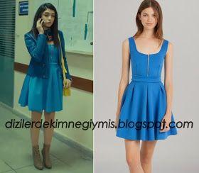 Medcezir - Eylül (Hazar Ergüçlü), Maje Blue Dress