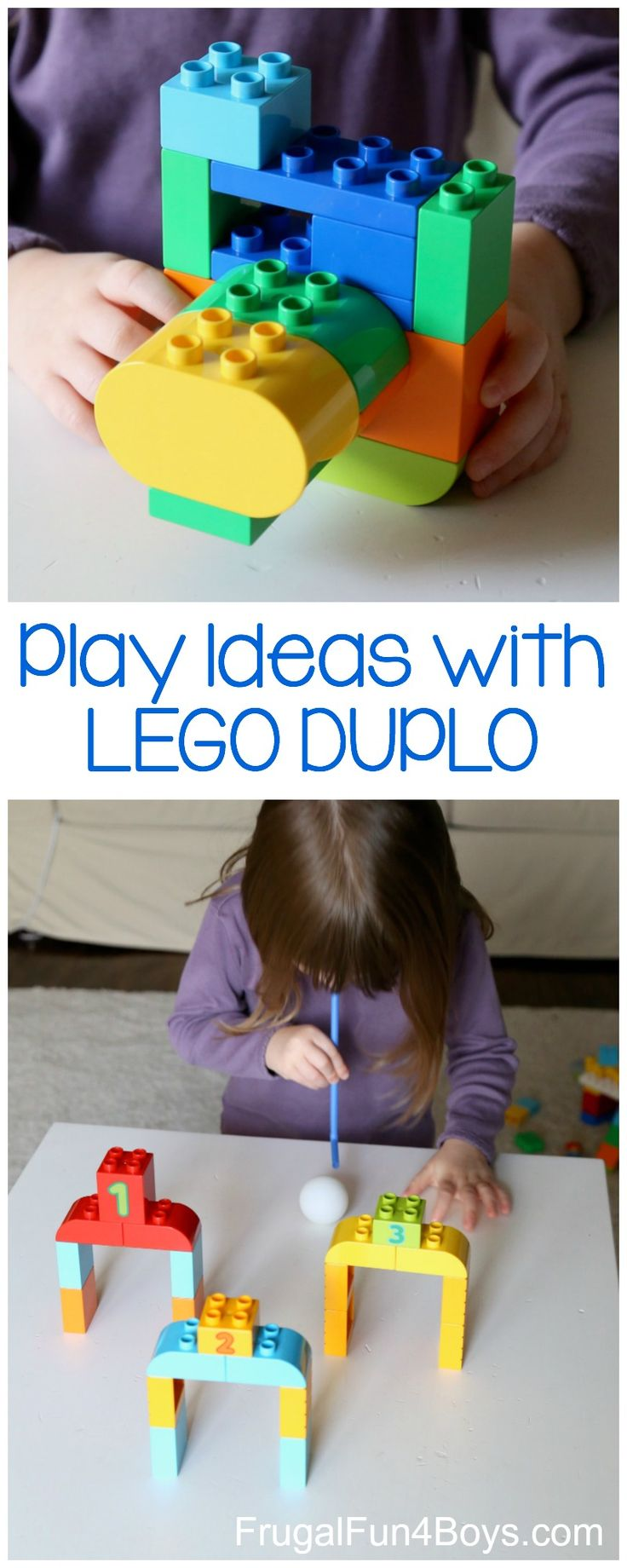 Play ideas for preschoolers with LEGO DUPLO bricks