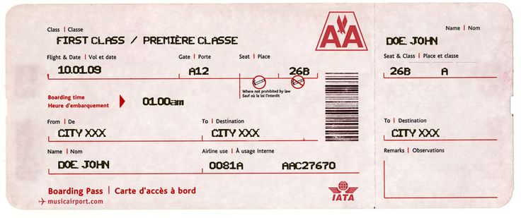 create your own airline ticket for an invitation